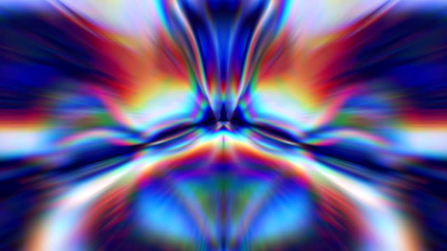 vidéos et rushes de boucle de kaléidoscope 4k - psychédélique