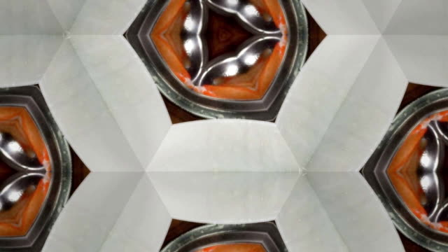 kaleidoscope background footage for creative design - mandala stock videos & royalty-free footage