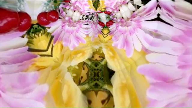 vídeos de stock, filmes e b-roll de imagens de fundo caleidoscópio para design criativo - psicodélico descrição