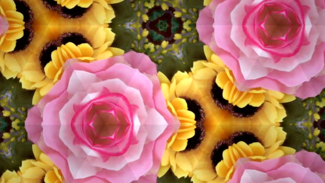 kaleidoscope background footage for creative design - symbol stock videos & royalty-free footage