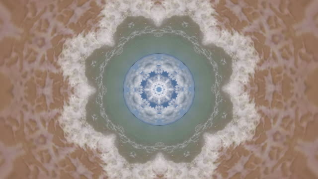 kaleidoscope effect of waves - mandala stock videos & royalty-free footage