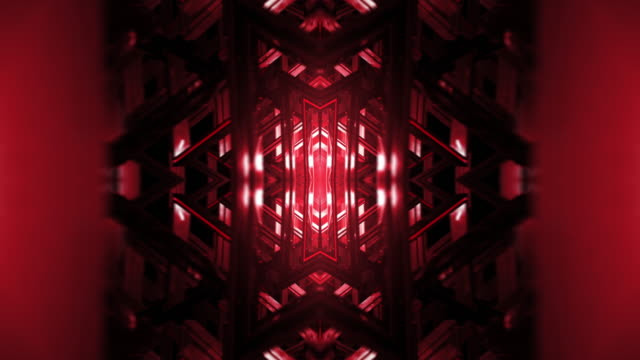 kaleidoscope - light tunnel abstract - techno music stock videos & royalty-free footage