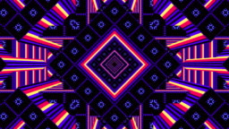 3D kaleidoscope, looped backgrounds for video projections and stage show