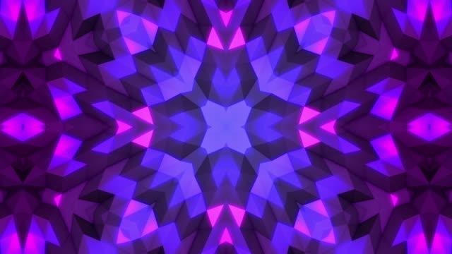 kaleidoscope mandala in space - mosaic stock videos & royalty-free footage