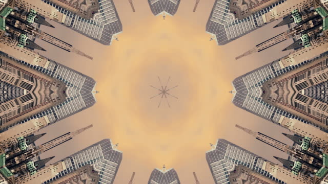 kaleidoscope of a view of new york usa - kaleidoscope pattern stock videos & royalty-free footage