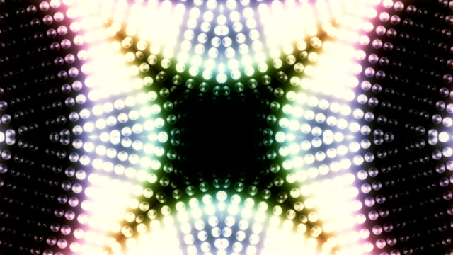 stockvideo's en b-roll-footage met kaleidoscope of changing lights loop - caleidoscoop patroon