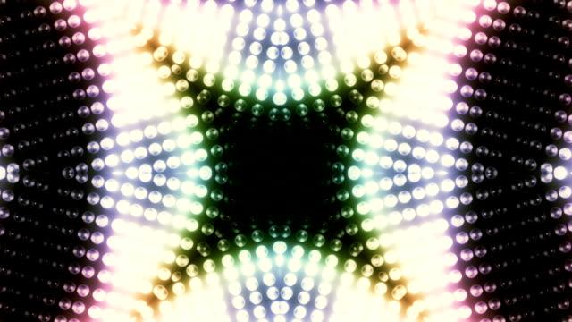 vídeos y material grabado en eventos de stock de caleidoscopio de cambio de luces bucle - caleidoscopio patrón