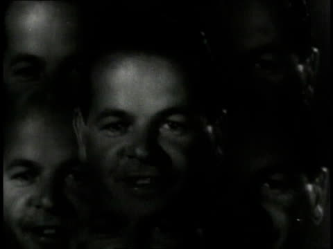 vidéos et rushes de 1940 multiple exposure kaleidoscope of mouths speaking / united states - reportage