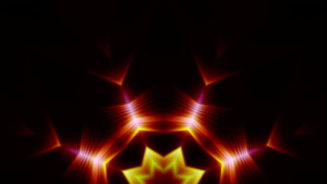 Kaleidoscope of shapes loop