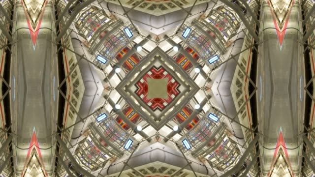 kaleidoscope pattern abstract background, mandala, city scape of sao paulo, brazil - kaleidoscope pattern stock videos & royalty-free footage