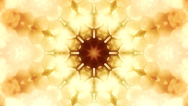 kaleidoscope shapes loop - beige stock videos & royalty-free footage