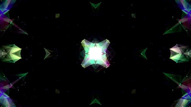 vídeos y material grabado en eventos de stock de lazo de fondo brillante caleidoscopio - mosaico