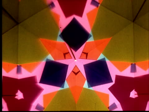 "cu kaleidoscope w/ audio about color' (does not work in ie)s influence on emotions ""make us feelégroovy or gay"" / audio - kaleidoscope pattern stock videos & royalty-free footage"