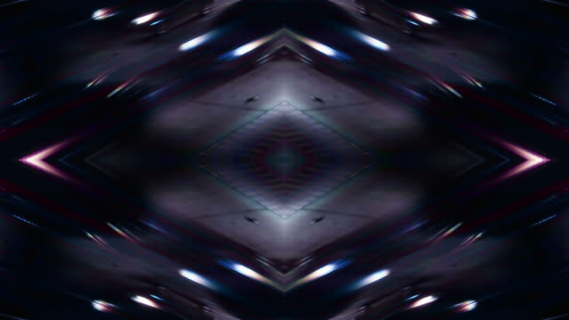 Kaleidoscopic freeway lights (Video Loop).