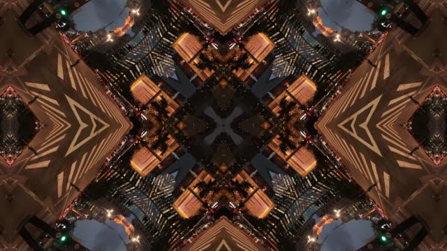 kaleidoscopic image of urban landscape. paulista avenue, sao paulo, brazil - abstract stock videos & royalty-free footage
