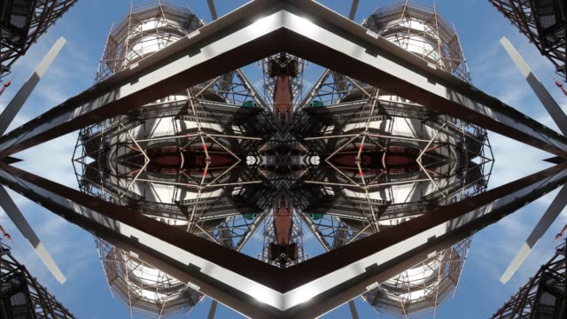stockvideo's en b-roll-footage met kaleidoscopic mandala of construction site, sao paulo state, brazil - caleidoscoop patroon