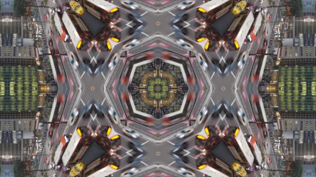 kaleidoscopic mandala of paulista avenue, sao paulo, sao paulo state, brazil - image stock videos & royalty-free footage