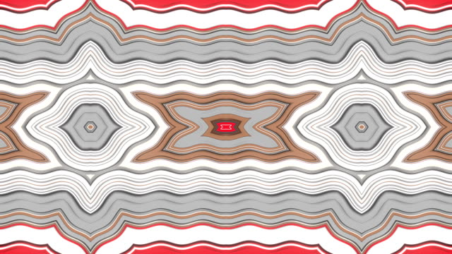 kaleidoscopic pattern of red and grey colored geometric shapes. abstract geometrical vj motion graphics background. computer generated loop animation. 3d rendering. 4k uhd - shape stock videos & royalty-free footage