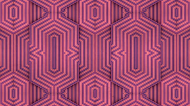 kaleidoscopic pattern with moving multi-colored geometric lines. 3d rendering seamless loop striped animation. motion graphic design. 4k, ultra hd resolution - optical illusion stock videos & royalty-free footage