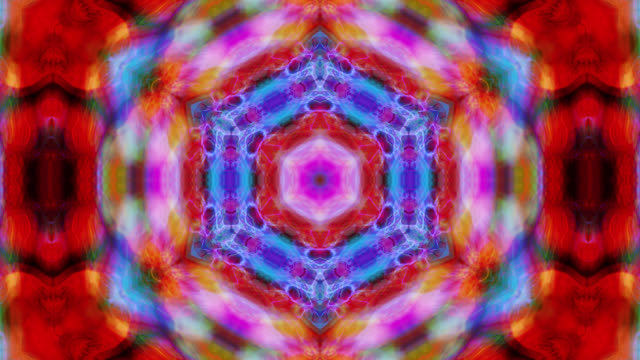 Kaleidoscopic video background (Loop).