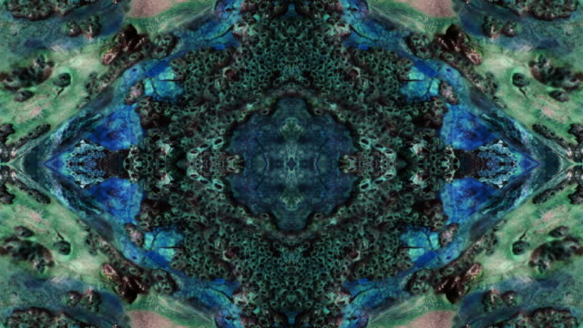 kaleidoscopic water and stones. - digital enhancement stock videos & royalty-free footage
