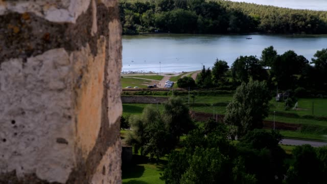 vídeos de stock e filmes b-roll de kalemegdan and danube river - eastern european culture