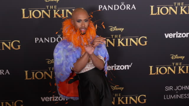 Kalen Allen at the World Premiere of Disney's The Lion King at Dolby Theatre on July 09 2019 in Hollywood California