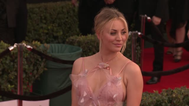 Kaley Cuoco at 23rd Annual Screen Actors Guild Awards Arrivals at The Shrine Expo Hall on January 29 2017 in Los Angeles California