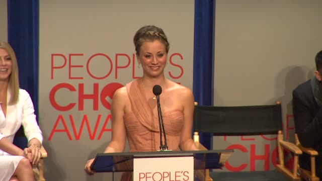 kaley cuoco at the people's choice awards 2012 nominations press conference - people's choice awards stock videos & royalty-free footage