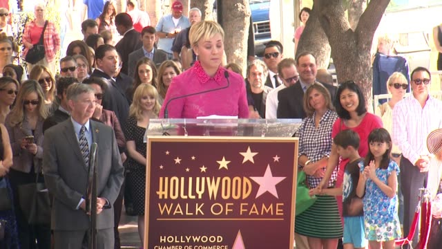 vídeos de stock e filmes b-roll de clean kaley cuoco honored with star on the hollywood walk of fame on october 29 2014 in hollywood california - hollywood walk of fame