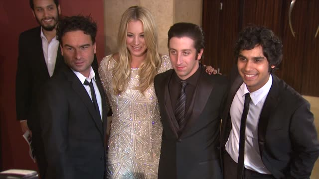 Kaley Cuoco Johnny Galecki Kunal Nayyar Simon Helberg at the 19th Annual 'A Night At Sardi's' Benefitting The Alzheimer's Association at Beverly...