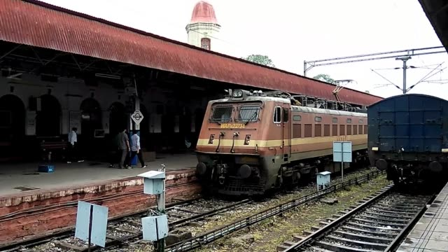 kalka railway station is the northern terminus of the delhikalka line and the starting point of the unesco world heritage site kalka–shimla railway... - haryana stock-videos und b-roll-filmmaterial