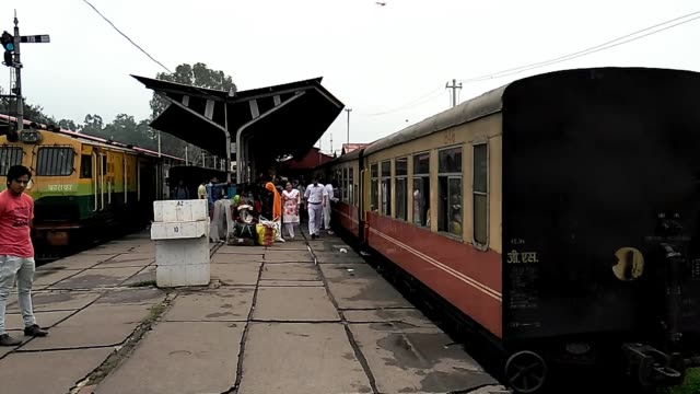 kalka railway station is the northern terminus of the delhikalka line and the starting point of the unesco world heritage site kalka–shimla railway... - haryana stock videos & royalty-free footage