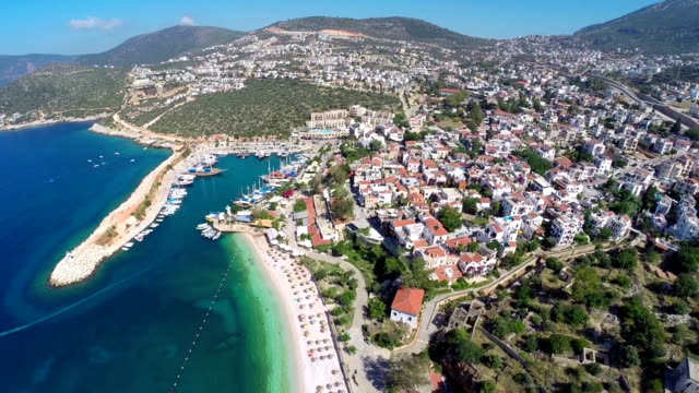 kalkan città mediterranea - turchia video stock e b–roll