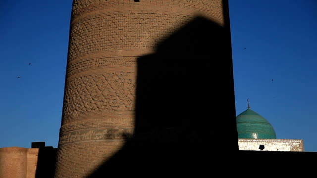 kalyan minaret. - bukhara stock videos and b-roll footage