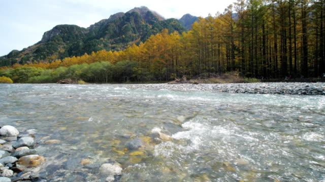 kamikochi nationalpark in der herbstsaison , matsumoto , nagano , japan - high dynamic range imaging stock-videos und b-roll-filmmaterial
