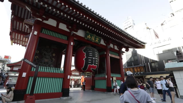 Kaminarimon an entrance gate to the Sensoji temple in Tokyo Japan on Monday July 2 2018