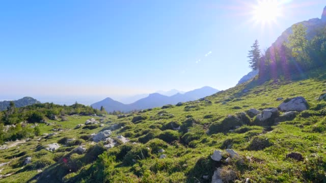 kampenwand and chiemgau alps in autumn - cable car stock videos & royalty-free footage