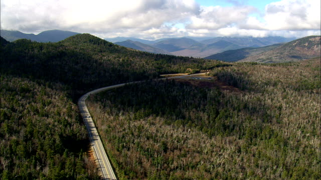 kancamagus highway  - aerial view - new hampshire,  grafton county,  united states - new hampshire stock videos & royalty-free footage