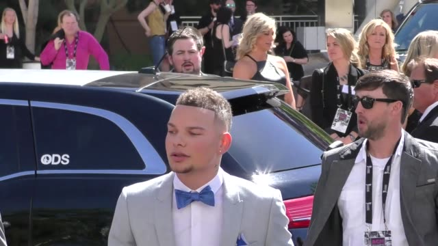 kane brown arriving to the 52nd academy of country music awards in celebrity sightings in las vegas - academy of country music awards stock videos & royalty-free footage