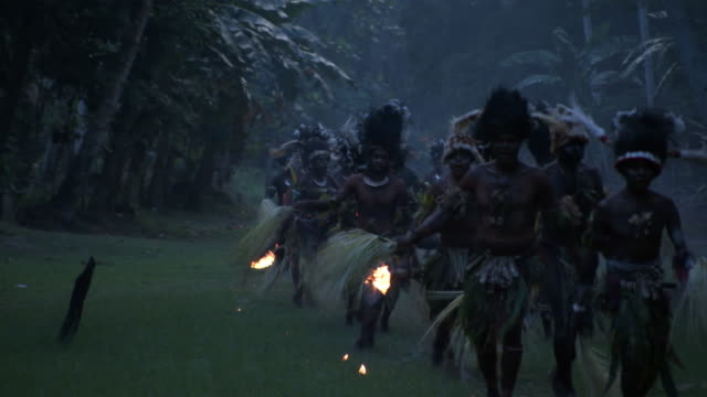 kaningara crocodile people perform at initiation ceremony, sepik, png  - papua new guinea stock videos & royalty-free footage