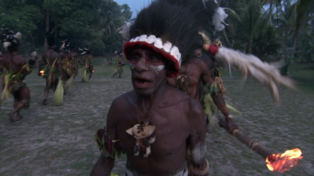 Kaningara crocodile people perform at initiation ceremony, Sepik, PNG