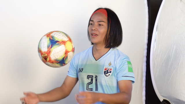 Kanjana SungNgoen at FIFA Women's World Cup France 2019 Team Portrait Session on June 08 2019 in Reims
