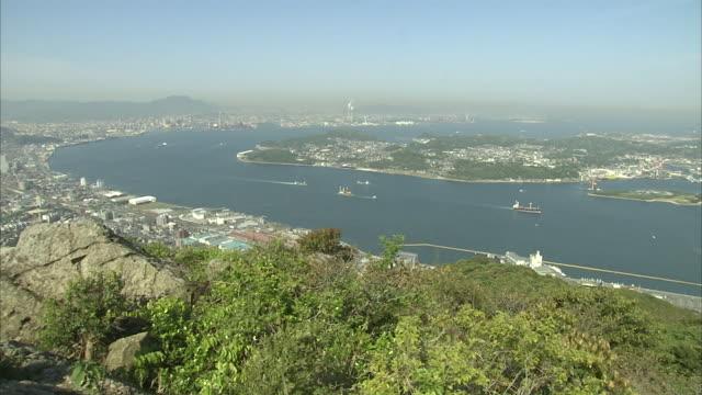 kanmon straits in japan - fukuoka prefecture stock videos & royalty-free footage