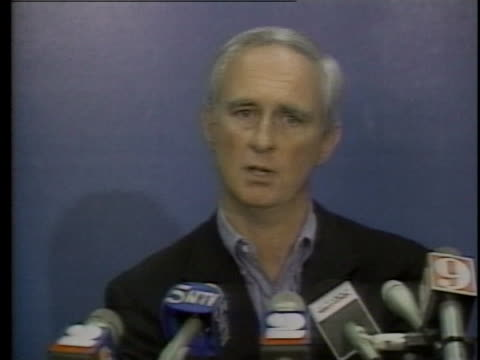 kansas city royals general manager herk robinson discusses the release of bo jackson from the team due to injury - bo jackson stock videos & royalty-free footage