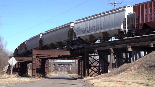 kansas city southern railway company earnings in kansas city, missouri, u.s. on tuesday, january 7, 2020. - cargo train stock videos & royalty-free footage