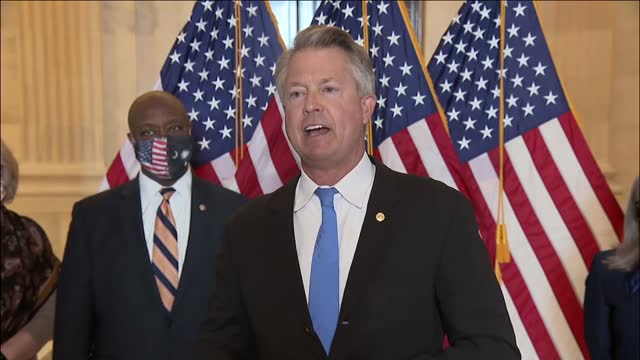 kansas senator roger marshall says at republican press conference in opposition to increasing the federal minimum wage that raising the minimum wage... - median nerve stock videos & royalty-free footage