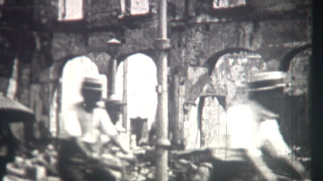stockvideo's en b-roll-footage met kanto earthquake japan 1923 - geruïneerd