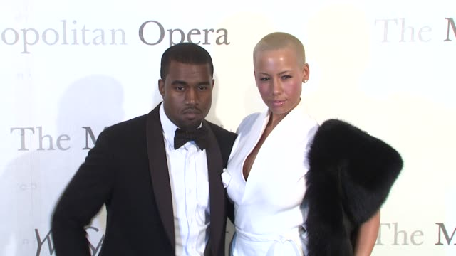 Kanye West and Amber Rose at the The Metropolitan Opera's 125th Anniversary Gala at New York NY