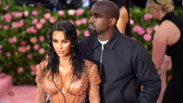 Kanye West and Kim Kardashian West at The 2019 Met Gala Celebrating Camp Notes on Fashion Arrivals at Metropolitan Museum of Art on May 06 2019 in...